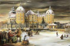 Adventskalender Dresden Moritzburg, Pillnitz, Pirna Kunstdruck