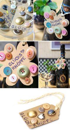 [diy] Glücksknöpfe für Silvester - Handmade Kultur
