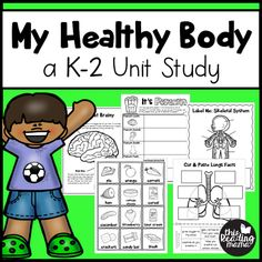 This Healthy Body Unit Study for Learners includes loads of information about the human body and hands-on activities for exploring it!Inside this unit study, you'll student objectives evaluation sheet {for teachers}, 1 with editable fieldsWants vs. 5 Senses Activities, Human Body Activities, Hands On Activities, Learning Activities, Learning Websites, Learning Time, Stem Activities, Teaching Ideas, Human Body Unit