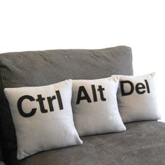 Ctrl, Alt, Del pillows