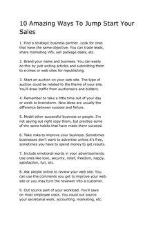 10-amazing-ways-to-jump-start-your-sales by Sander van Dijk via Slideshare
