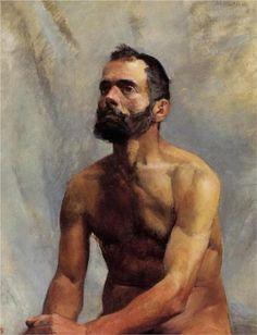 Academic Study Nude  - Henri de Toulouse-Lautrec