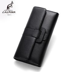 0f7a08a8a99 Simple Design Women Long Wallets Genuine Leather Purse for Women Size   18.8CM 3.3