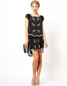 Frock and Frill | Frock and Frill Embellished Shift Dress with Cage Back at ASOS