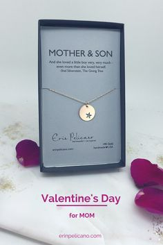 Valentine's Day gifts for Mom. Valentine's Day gift for wife, new mom gift, boy mom necklaces