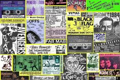 hardcore punk flyers