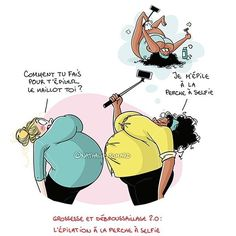 Le point épilation du 3ème trimestre.  #nathaliejomard #illustration #illustrator #humour #grossesse #maman #epilation #bd #comicstrip #dessin #pregnancy #instafunny