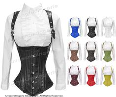 Heavy Duty Full Steel Boned Genuine Leather Underbust Shaper Corset #8028-LE in Clothing, Shoes, Accessories, Women's Lingerie, Intimates, Corsets, Bustiers | eBay!