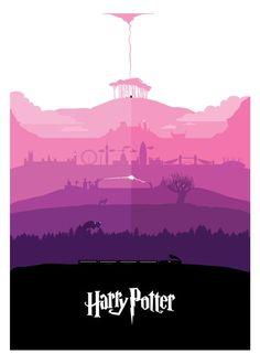 All seven Harry Potter stories - in one poster. Full Portfolio: www.petterscholander.com