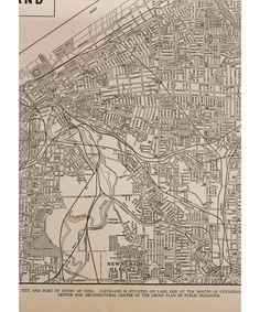 Vintage Map: Cleveland.