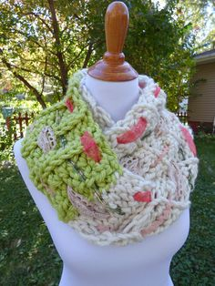 mixed media infinity scarf crochet pattern