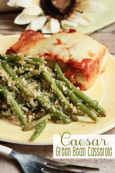 Caesar Green Bean Casserole - a lighter twist on a classic
