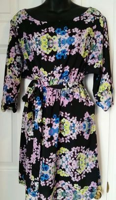 Beautiful Floral Dress Sz M Free U.S Shipping