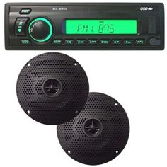 Milennia MILMPK6 AM/FM/USB SD Card Slot, 2 Coaxial Waterproof Speakers Marine Stereo System