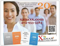 It's all about Xanaxx Consulting Group Marketing Action Plan that delivers measurable result.