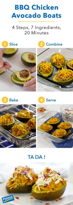 These BBQ Chicken Avocado Boats are a surefire hit for this summer. Made with Perdue® Fit & Easy® Boneless, Skinless Chicken Breasts, these yummy vessels will tide over even the hungriest sailor in your crew. Get the step-by-step recipe by clicking the image. Captain your kitchen and cookout with these delicious, quick, easy delights!