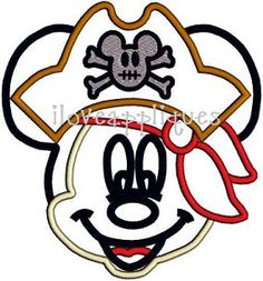 INSTANT DOWNOAD Cute Pirate Mickey Mouse Full Face Hat Disney Celebration Applique Embroidery Design 2 Digital files