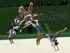 Composite photographs from Thursday's competition that show how Biles dominated.