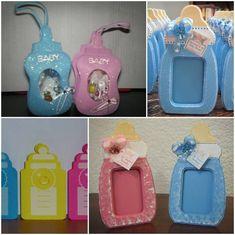 biberones de foami para baby shower