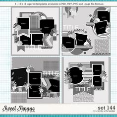Cindy's Layered Templates - Set 144 by Cindy Schneider