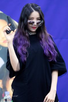 Find images and videos about kpop, beauty and girls on We Heart It - the app to get lost in what you love. Extended Play, Hair Color Streaks, Gfriend Sowon, Uzzlang Girl, G Friend, Music Photo, Purple Hair, Hair Inspo, Kpop Girls