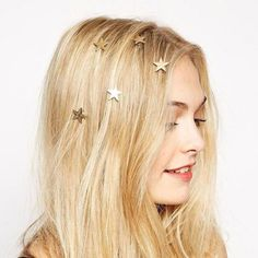 Boho gold stars twist into your hair for a romantic celestial look! Wear them this New Year's Eve or anytime you want to look like a goddess! Set Includes 5 Stars
