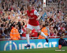 Gibbs Celebrates His First Arsenal Goal vs Aston Villa 2012.