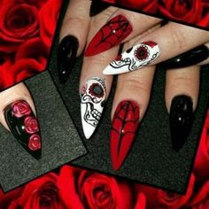 ☞❤ Scary Halloween Nail Design Ideas - Halloween is the period of frighteningness and chillness in your bones is back. All things considered, since Halloween is approaching, would prefer you not to look all frightening and unpleasant? You do, correct? All things considered, everything starts with your nail designs and for a celebration like Halloween that commends ghastliness. #Halloween_Nail_Design #DIY_Nail_Halloween_Ideas #Easy_Halloween_Nail_Art