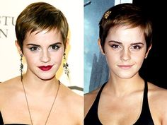 We love the pixie cut on Emma Watson!  #VisibleChangesLove it!