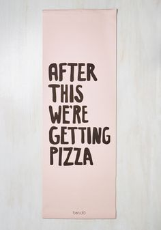 In the Treat of the Moment Yoga Mat - Pink, Black, Novelty Print, Print, Quirky, Food, Better, Plastic