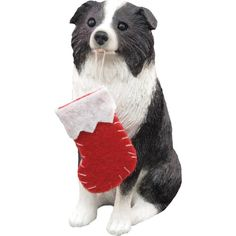 Sandicast Border Collie with Stocking Christmas Ornament -- You can find more details by visiting the image link.