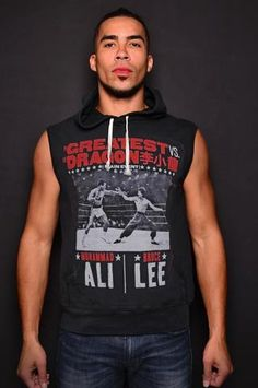45074bea0d9f6 Ali vs Lee - Night of Greatness Sleeveless Hoody Front Roots Of Fight