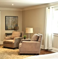 Filling in an empty end of a very long living room. Staging, Recliner, Empty, Living Room, Chair, Top, House, Furniture, Home Decor