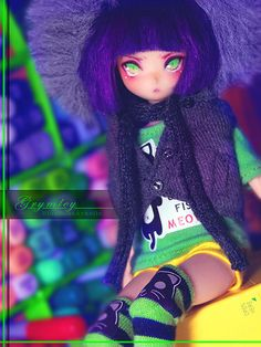 Absolutely gorgeous OOAK Azone Obitsu Hybrid by BlueRoseArkelle on flickr