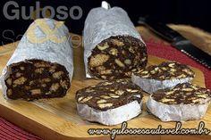 Receita de Salame de Chocolate com Castanha de Caju