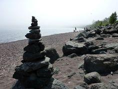 Lake Superior cairn.