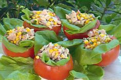 Get Tomatoes stuffed with Chicken Salad Recipe from Food Network