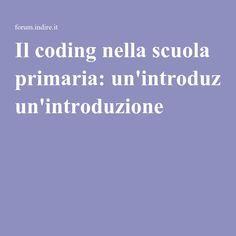 Il coding nella scuola primaria: un'introduzione