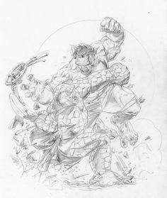 Ben Grimm vs. The Hulk by Doug Braithwaite *