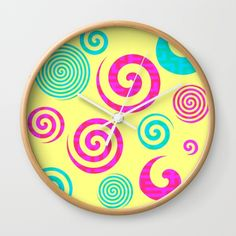 Add color to your room with a new clock @society6 #homedecor