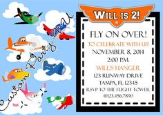 Planes Invitation on Etsy, $20.00