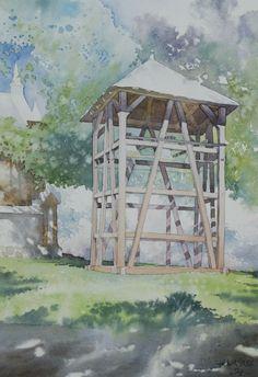 Lipe belfry  - Grzegorz Wrobel - watercolor