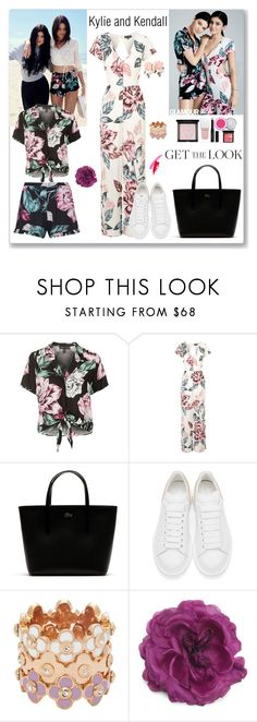 """""""Kylie and Kendall"""" by ludmyla-stoyan ❤ liked on Polyvore featuring Topshop, Lacoste, Givenchy, Alexander McQueen, Henri Bendel, Gucci, GetTheLook and celebritysiblings"""