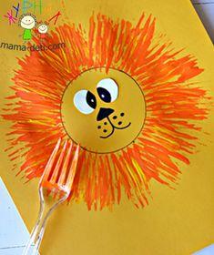 учимся рисовать лев
