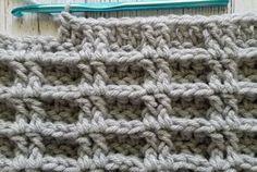 waffle stitch crochet tutorial - wafelsteek haken
