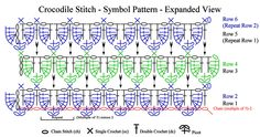 Ravelry: dunnica's Crocodile Stitch Tutorial
