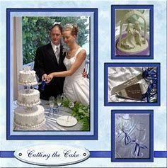 Image result for Wedding Scrapbook Layouts #weddingscrapbooks