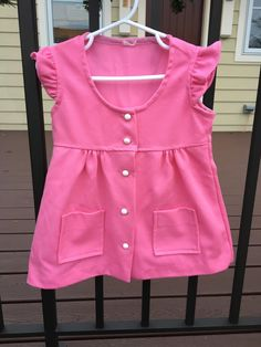 70s Pink Polyester Dress 18/24 Months by lishyloo on Etsy