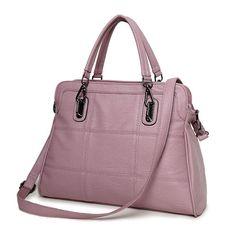 11cfc502d998 BRIGGS Brand Fashion Plaid Handbag PU Leather Tote Bag Vintage Women Casual  Bag High Quality Shoulder