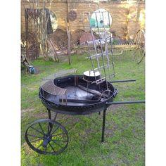 Charcoal Grill, Wok, Welding, Ideas Para, Backyard, Cabin, Steel, Outdoor Decor, Patio Ideas